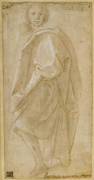 Prepare Drawing - Seated Young Man Unknown Maker, Florentine School Florence by Litz Collection