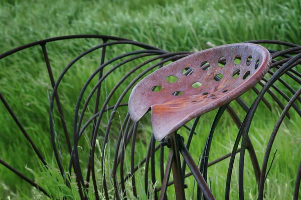Hay Rake Photograph - Seating For One - Vintage Hay Rake Seat  by Nikolyn McDonald