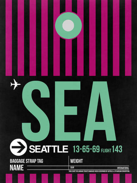 Seattle Digital Art - Seattle Airport Poster 4 by Naxart Studio