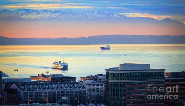 Elliott Photograph - Seattle And Elliott Bay by Inge Johnsson