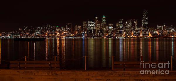 Photograph - Seattle At Night by Eddie Yerkish
