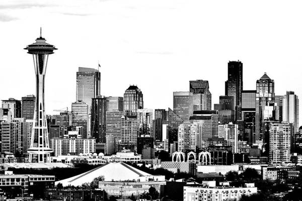 Wall Art - Photograph - Seattle Black And White by Benjamin Yeager