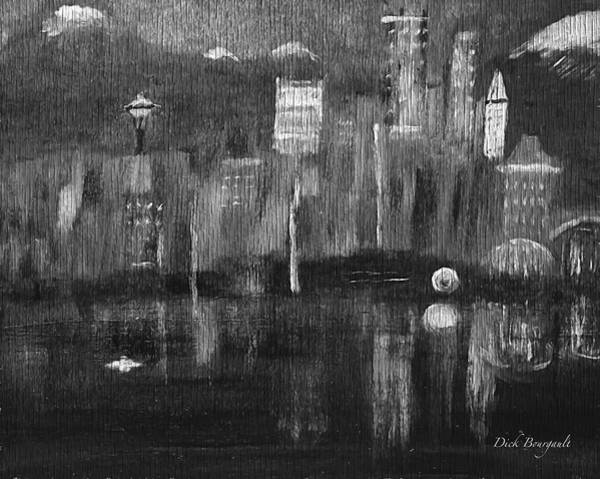 Seattle Black And White Art Print