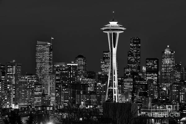 The Blue Room Photograph - Seattle Black And White by Peter Dang