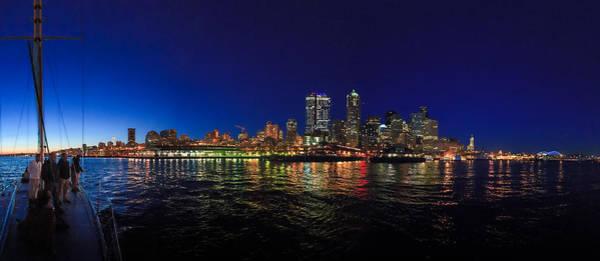 Photograph - Seattle City Skyline Romance Panorama by Scott Campbell