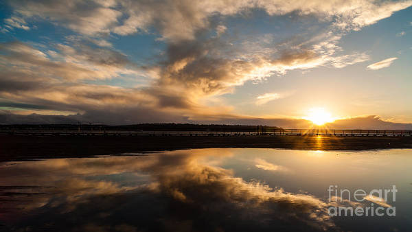 Puget Sound Photograph - Seattle Clouds Sunstar by Mike Reid