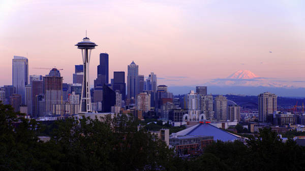 Rainy Photograph - Seattle Dawning by Chad Dutson
