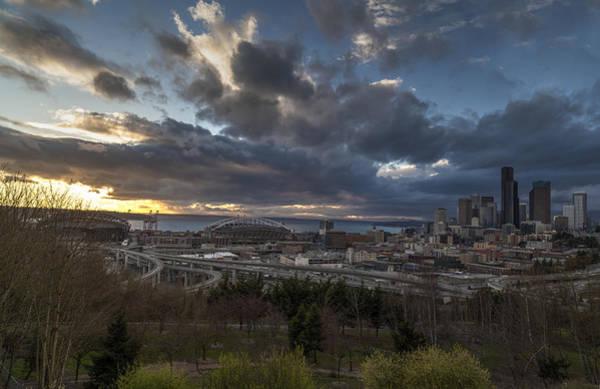 Elliott Photograph - Seattle Dramatic Dusk by Mike Reid