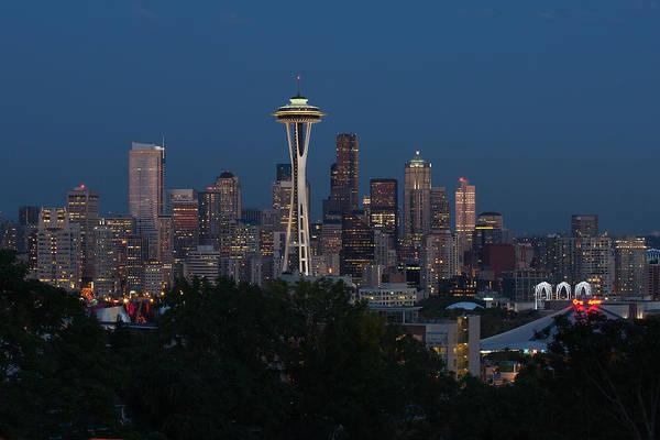 Pearl Jam Photograph - Seattle Emerald City At Night by Jack Nevitt