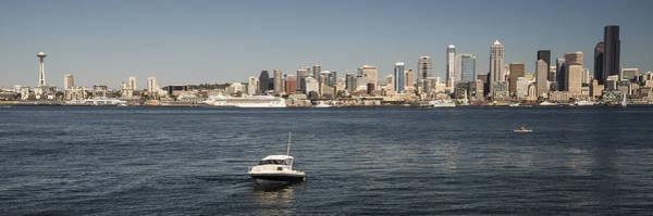 Photograph - Seattle From Alki Beach by Lee Kirchhevel