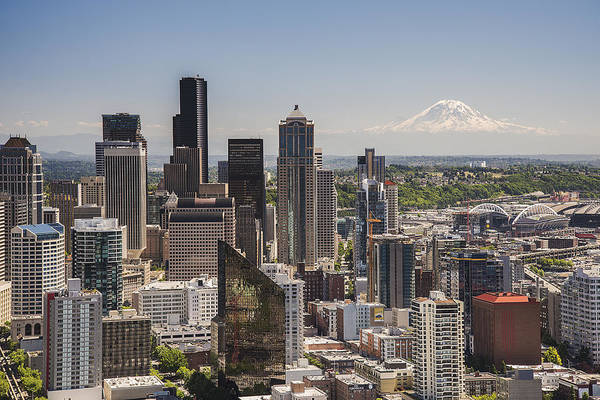 Photograph - Seattle From The Space Needle by Lee Kirchhevel