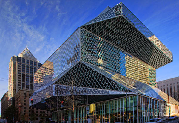 Library Photograph - Seattle Library by Inge Johnsson