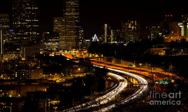 Photograph - Seattle Light Trails by Rod Best