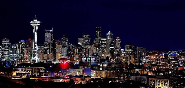 Wall Art - Photograph - Seattle Lights by Benjamin Yeager