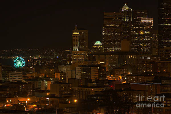 Photograph - Seattle Lights Too by Rod Best