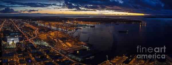 Elliott Photograph - Seattle Monday Night Football by Mike Reid