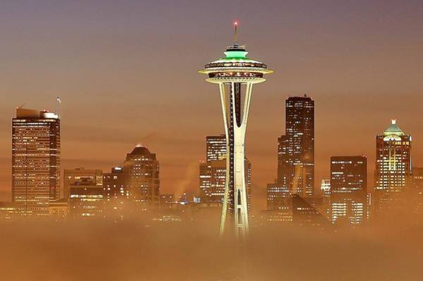 Wall Art - Photograph - Seattle Morning Mist by Benjamin Yeager