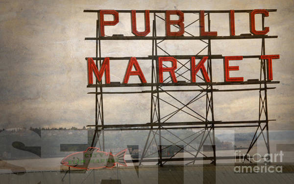 Photograph - Seattle Public Market by Art Whitton