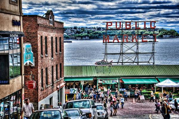 Pikes Place Wall Art - Photograph - Seattle Public Market 2 by Spencer McDonald