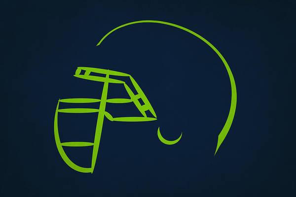 Seattle Seahawks Wall Art - Photograph - Seattle Seahawks Helmet by Joe Hamilton