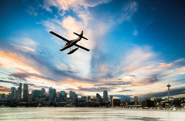 Pnw Wall Art - Photograph - Seattle Short Final by Peter Irwindale
