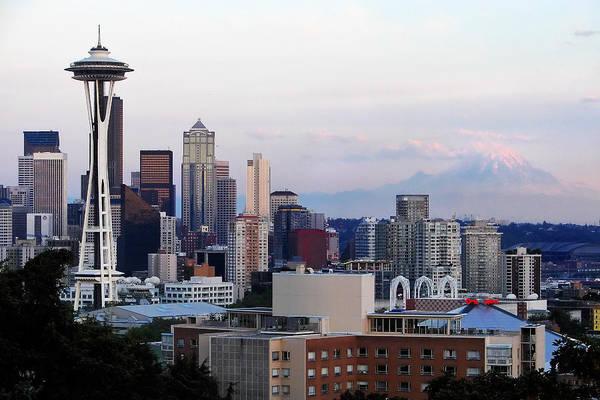 Pearl Jam Photograph - Seattle Skyline Afternoon by Jack Nevitt