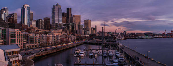 Bell Photograph - Seattle Skyline Bell Harbor Dusk by Mike Reid