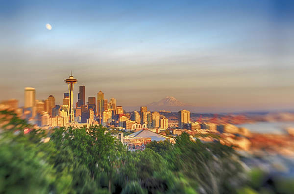 Photograph - Seattle Skyline Lens Baby Hdr by Scott Campbell