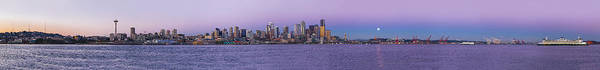 Elliot Bay Wall Art - Photograph - Seattle Skyline Panorama - Massive by Scott Campbell