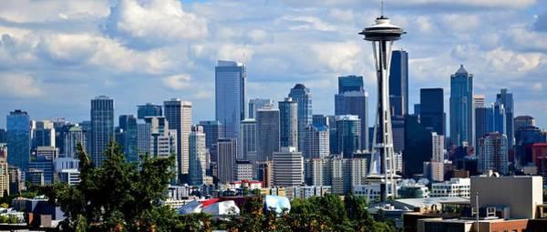 Seattle Skyline Panorama Art Print