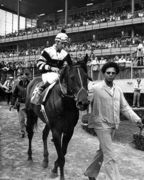 Triples Photograph - Seattle Slew Horse Racing #08 by Retro Images Archive
