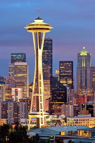 Photograph - Seattle Space Needle by Emmanuel Panagiotakis