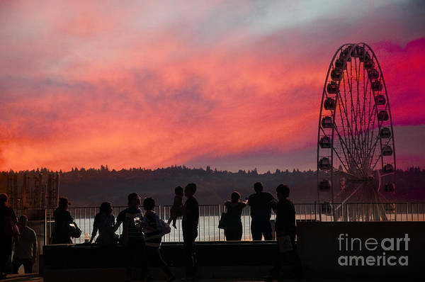 Photograph - Seattle Sunset by Brenda Kean