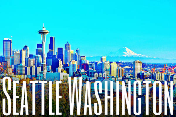 Digital Art - Seattle Washington by Michelle Dallocchio
