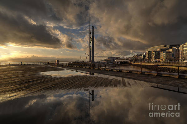 Elliot Bay Wall Art - Photograph - Seattle Waterfront Sky Pools by Mike Reid