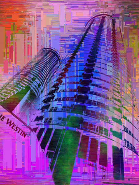Highrise Digital Art - Seattle Westin Cubed 1 by Tim Allen