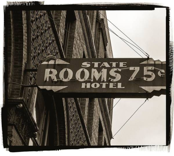 Photograph - Seattle's Pioneer Square - Historic State Hotel by Jordan Blackstone