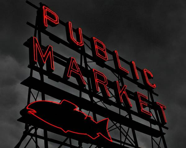 Wall Art - Photograph - Seattle's Public Market by Benjamin Yeager