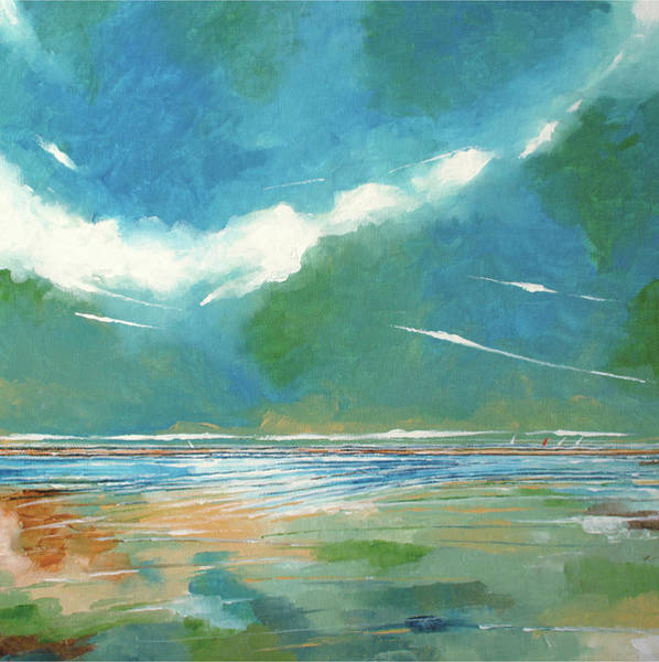 Skyscape Painting - Seaview 1 by Stuart Roy
