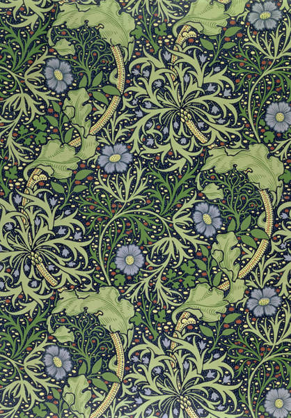 Elaborate Wall Art - Tapestry - Textile - Seaweed Wallpaper Design by William Morris