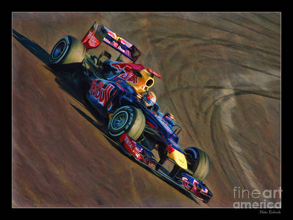 Photograph - Sebastian Vettel - Red Bull by Blake Richards