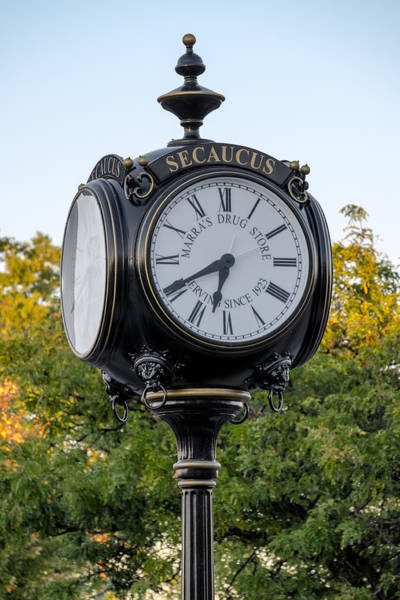 Photograph - Secaucus Clock Marras Drugs by Susan Candelario