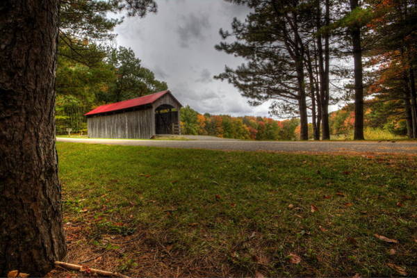 Photograph - Secluded Covered Bridge by David Dufresne