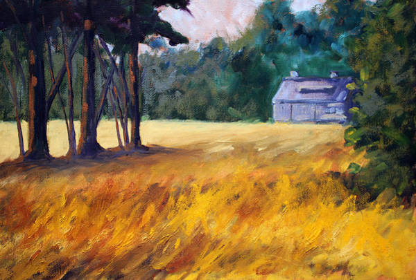 Prairie Grass Painting - Secluded by Nancy Merkle