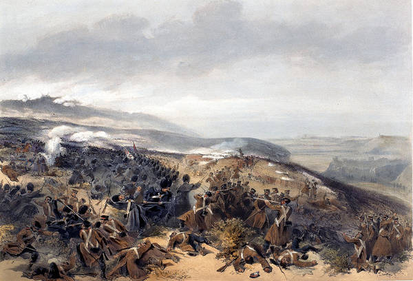 Soldier Drawing - Second Charge Of The Guards When by William 'Crimea' Simpson