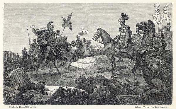 Roman Soldier Drawing - Second Punic War  The Roman General by Mary Evans Picture Library