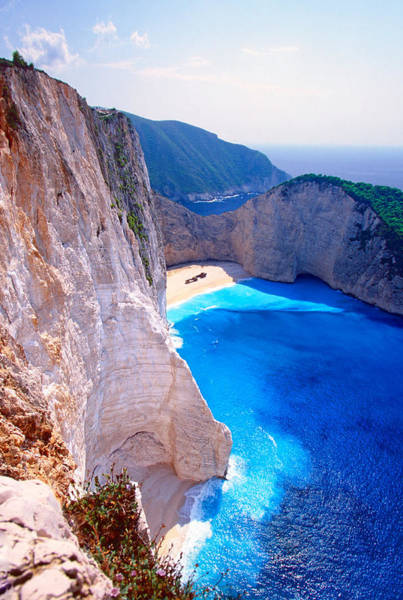 Elevation Photograph - Secret Beach by Aiolos Greek Collections