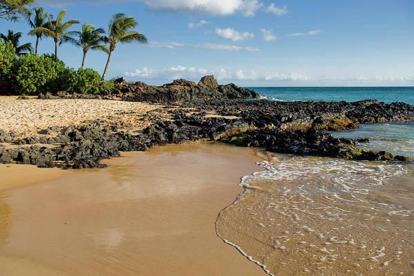 Maui Photograph - Secret Cove Beach On South Maui Coast by Greg Elms