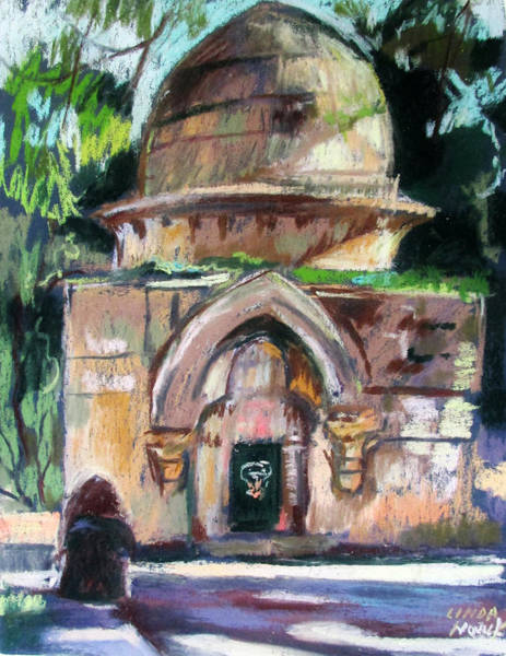 Painting - Secret Jerusalem Temple by Linda Novick