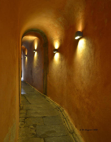 Photograph - Secret Passageway In Lyon France by Allen Sheffield